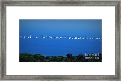 Sailing The Sea And Sky Framed Print