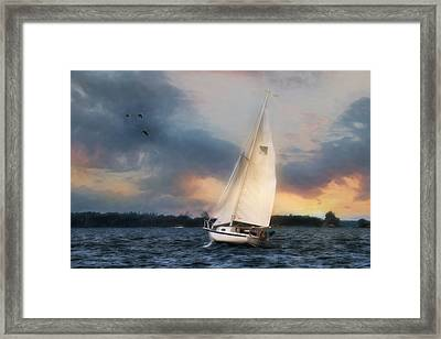 Sailing The St. Lawrence Framed Print by Lori Deiter