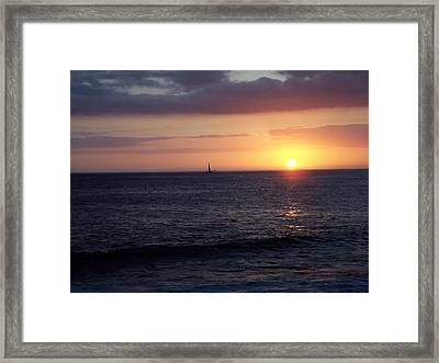 Sailing The Sunset Framed Print