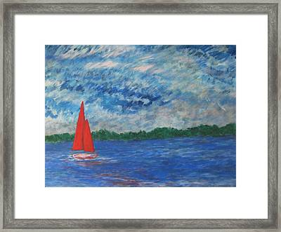 Framed Print featuring the painting Sailing The Wind by John Scates
