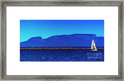Sailing The Winds Of The Giant Framed Print