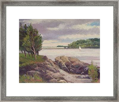 Sailing The World Framed Print