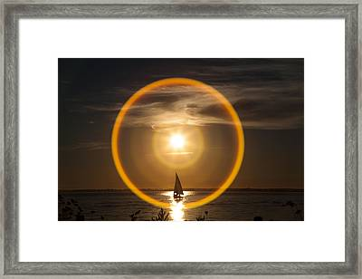 Sailing Through The Iris Framed Print