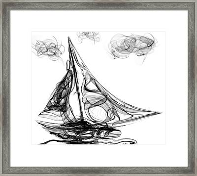 Sailing Through Voodoo, Struggles And Life's Storms Framed Print by Abstract Angel Artist Stephen K