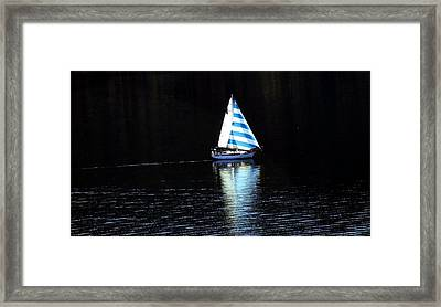 Sailing Framed Print by Tiffany Vest
