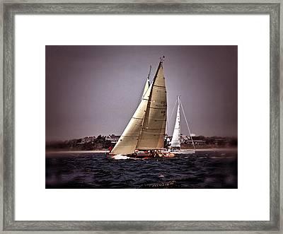 Sailing To Nantucket 005 Framed Print