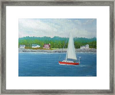 Sailing To New Harbor Framed Print