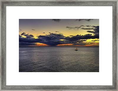 Sailing To Sunset Framed Print