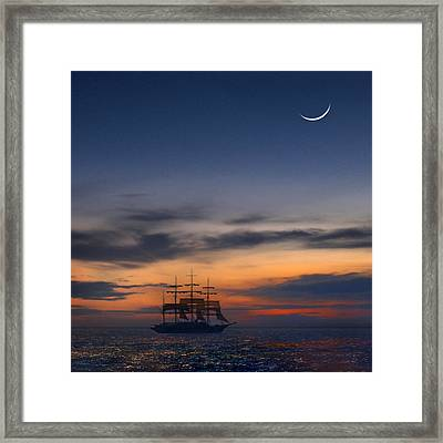 Sailing To The Moon 2 Framed Print by Mike McGlothlen