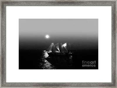 Sailing Under Moonlight Framed Print