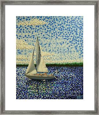 Sailing With Olivia Framed Print by Alan Hogan