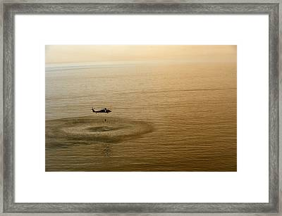 Sailors Fill A Bambi Bucket  Us Navy Framed Print by Celestial Images