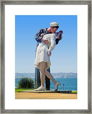 Sailors Kiss Framed Print