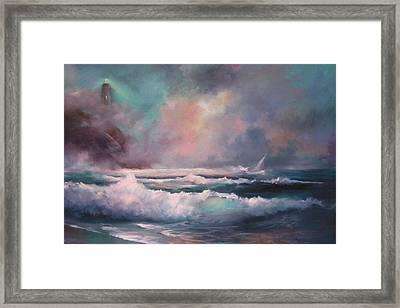 Sailors Plight Framed Print by Sally Seago
