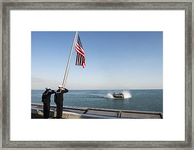 Sailors Salute  Framed Print