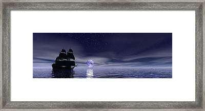 Sails Beneath The Moon Framed Print