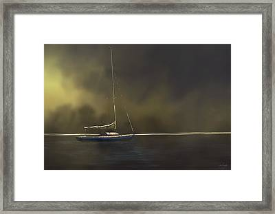 Sails Down Framed Print by Mary Clough