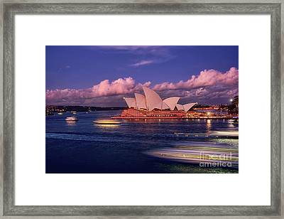 Sails In The Clouds By Kaye Menner Framed Print