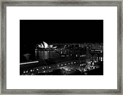 Sails In The Night Framed Print