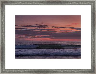 Sails In The Sunset Framed Print by Bill Roberts