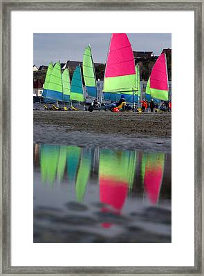 Sails Sails Framed Print by Jez C Self