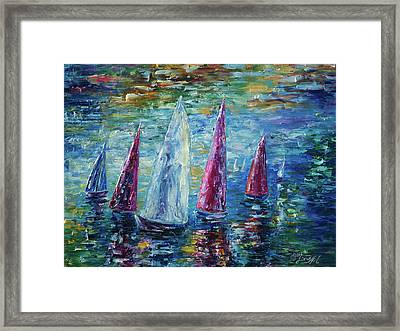 Sails To-night Framed Print