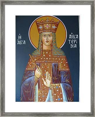 Saint Aekaterina Framed Print by George Siaba