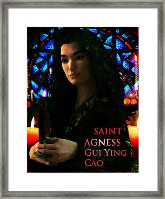 Saint Agnes Gui Ying Cao Of China Framed Print by Suzanne Silvir