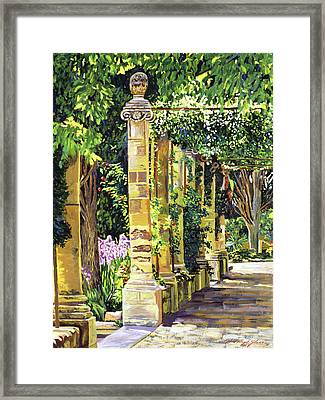 Saint-andre Abbey France Framed Print by David Lloyd Glover