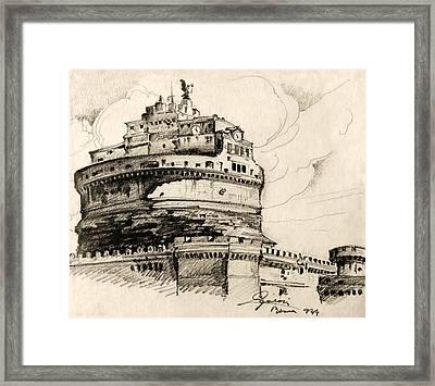 Saint Angel Castle Framed Print