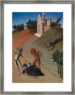 Saint Anthony Abbot Tormented By Demons  Framed Print by Mountain Dreams