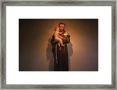 Saint Anthony Framed Print by Donna Kennedy