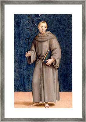 Saint Anthony Of Padua Framed Print by Raphael