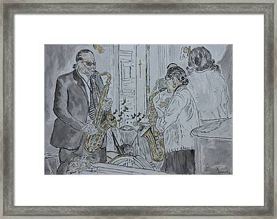 Saint Augustin Church Nola 169th  Anniversary Mass Framed Print by Imagery-at- Work