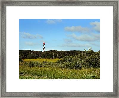 Saint Augustine Lighthouse Framed Print by Addison Fitzgerald
