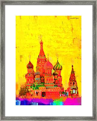 Saint Basil Cathedral - Da Framed Print by Leonardo Digenio