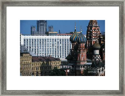 Saint Basils Cathedral In Moscow 1967 Framed Print