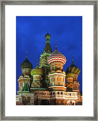 Saint Basil's Cathedral Moscow  Framed Print by Karin Ubeleis-Jones