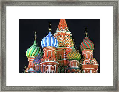 Saint Basils Cathedral On Red Square, Moscow Framed Print by Lars Ruecker