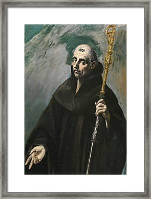 Saint Benedict Framed Print
