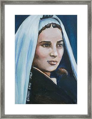 Saint Bernadette Soubirous Framed Print by Bryan Bustard
