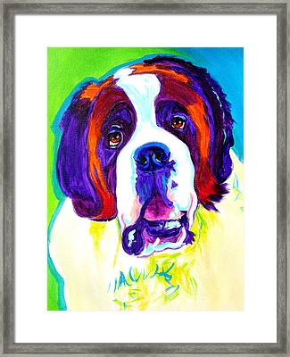 Saint Bernard -  Framed Print by Alicia VanNoy Call