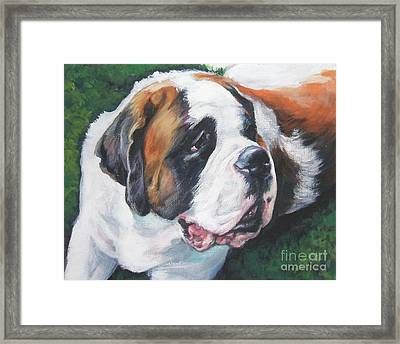 Saint Bernard Framed Print by Lee Ann Shepard