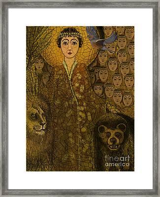 Saint Framed Print by Carol Jacobs