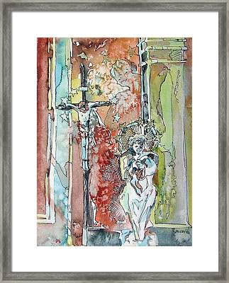 Saint Cecilia Ronda Spain Framed Print by Mindy Newman