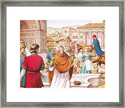 Saint Cuthbert Framed Print by Pat Nicolle