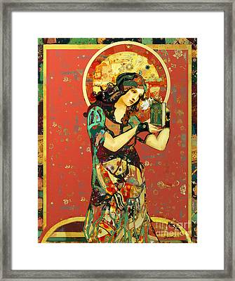 Saint Dymphna Framed Print