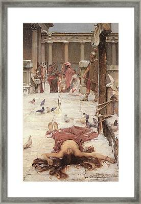 Saint Eulalia  Framed Print by John William Waterhouse