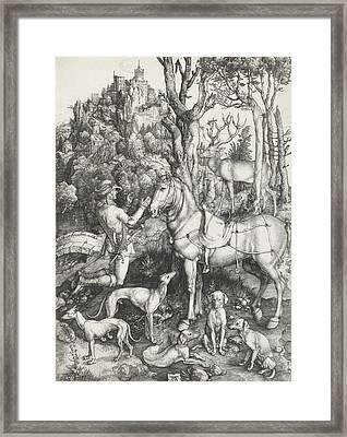 Saint Eustace Framed Print by Albrecht Durer