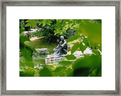 Saint Fiachras Garden  Framed Print by Martina Fagan